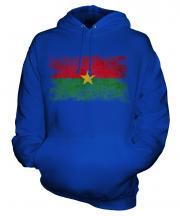 Burkina Faso Distressed Flag Unisex Adult Hoodie