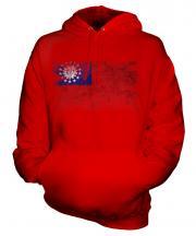 Burma Distressed Flag Unisex Adult Hoodie