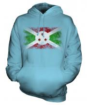 Burundi Distressed Flag Unisex Adult Hoodie