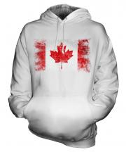 Canada Distressed Flag Unisex Adult Hoodie