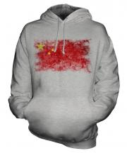 China Distressed Flag Unisex Adult Hoodie