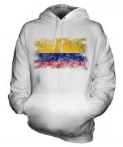 Colombia Distressed Flag Unisex Adult Hoodie
