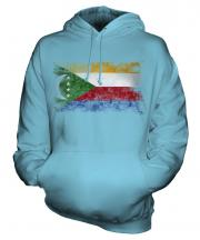Comoros Distressed Flag Unisex Adult Hoodie