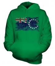 Cook Islands Distressed Flag Unisex Adult Hoodie