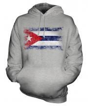 Cuba Distressed Flag Unisex Adult Hoodie