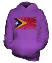 East Timor Distressed Flag Unisex Adult Hoodie