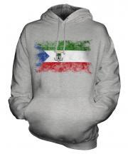 Equatorial Guinea Distressed Flag Unisex Adult Hoodie