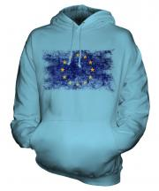European Union Distressed Flag Unisex Adult Hoodie