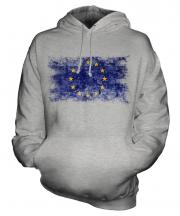 European Union Distressed Flag Unisex Adult Hoodie