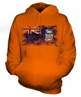 Falkland Islands Distressed Flag Unisex Adult Hoodie