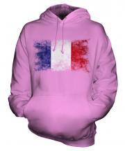 France Distressed Flag Unisex Adult Hoodie
