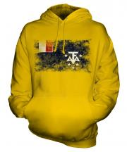 French Southern And Antarctic Lands Distressed Flag Unisex Adult Hoodie