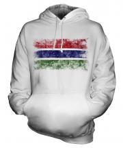Gambia Distressed Flag Unisex Adult Hoodie
