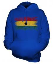 Ghana Distressed Flag Unisex Adult Hoodie