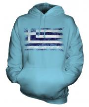 Greece Distressed Flag Unisex Adult Hoodie