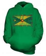 Grenada Distressed Flag Unisex Adult Hoodie