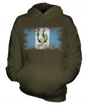 Guatemala Distressed Flag Unisex Adult Hoodie