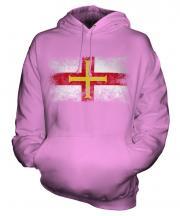 Guernsey Distressed Flag Unisex Adult Hoodie