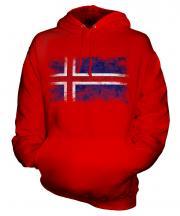 Iceland Distressed Flag Unisex Adult Hoodie
