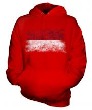 Indonesia Distressed Flag Unisex Adult Hoodie