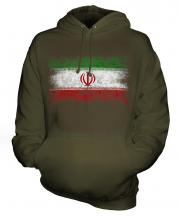 Iran Distressed Flag Unisex Adult Hoodie