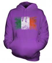 Ireland Distressed Flag Unisex Adult Hoodie