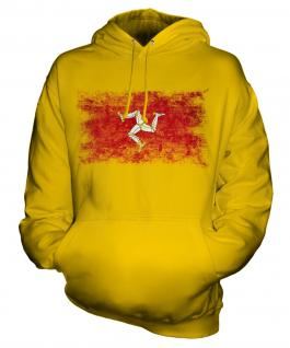 Isle Of Man Distressed Flag Unisex Adult Hoodie