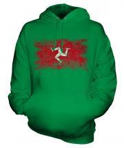 Isle Of Man Distressed Flag Unisex Adult Hoodie