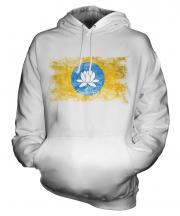 Kalmykia Distressed Flag Unisex Adult Hoodie