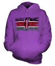 Kenya Distressed Flag Unisex Adult Hoodie