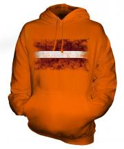 Latvia Distressed Flag Unisex Adult Hoodie