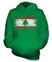 Lebanon Distressed Flag Unisex Adult Hoodie