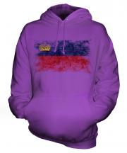 Liechtenstein Distressed Flag Unisex Adult Hoodie