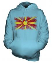 Macedonia Distressed Flag Unisex Adult Hoodie
