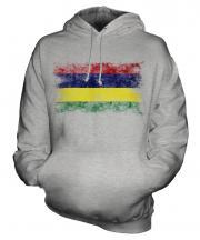 Mauritius Distressed Flag Unisex Adult Hoodie