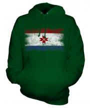 Mordovia Distressed Flag Unisex Adult Hoodie
