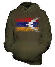 Nagorno-Karabakh Republic Distressed Flag Unisex Adult Hoodie