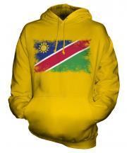 Namibia Distressed Flag Unisex Adult Hoodie