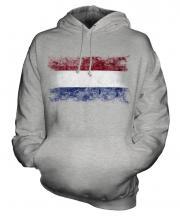 Netherlands Distressed Flag Unisex Adult Hoodie