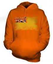 Niue Distressed Flag Unisex Adult Hoodie