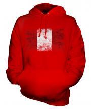 Peru Distressed Flag Unisex Adult Hoodie