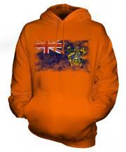 Pitcairn Islands Distressed Flag Unisex Adult Hoodie