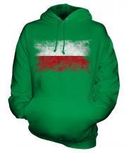 Poland Distressed Flag Unisex Adult Hoodie