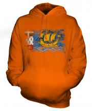 Saint Pierre And Miquelon Distressed Flag Unisex Adult Hoodie