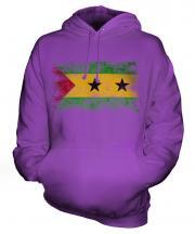 Sao Tome E Principe Distressed Flag Unisex Adult Hoodie
