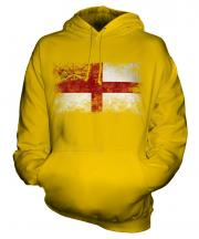 Sark Distressed Flag Unisex Adult Hoodie