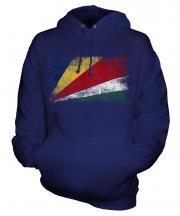 Seychelles Distressed Flag Unisex Adult Hoodie