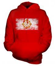 Sikkim Distressed Flag Unisex Adult Hoodie