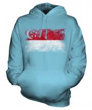 Singapore Distressed Flag Unisex Adult Hoodie