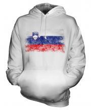 Slovenia Distressed Flag Unisex Adult Hoodie
